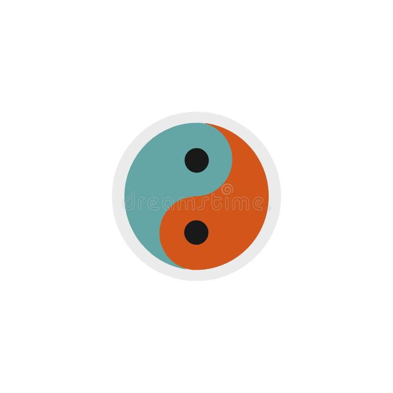Yin και yang σύμβολο, τρισδιάστατη απεικόνιση διανυσματική απεικόνιση