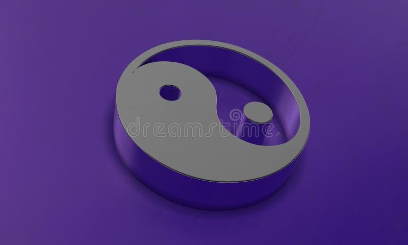 Yin и символ Yang в 3D стоковые фотографии rf