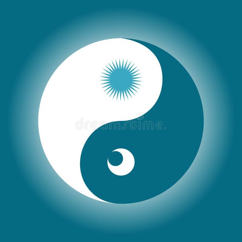 Yin &? 库存例证