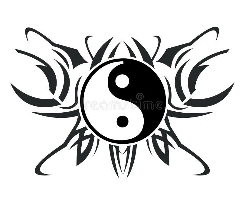 Yin & tatuagem de yang ilustração do vetor