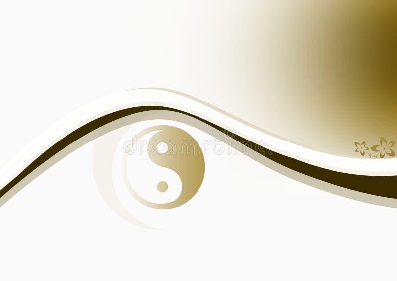 Yin & Yang Brown royalty illustrazione gratis