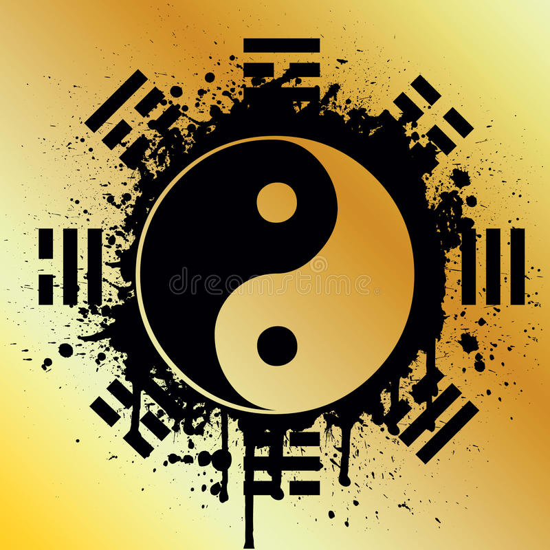 yin de yang illustration stock