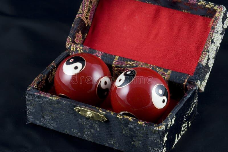 Yin e esferas de Yang Baoding foto de stock royalty free