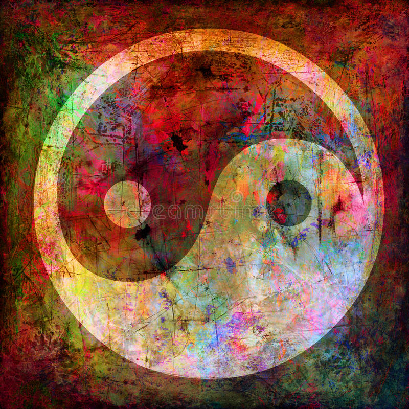 Yin e simbolo del yang illustrazione vettoriale