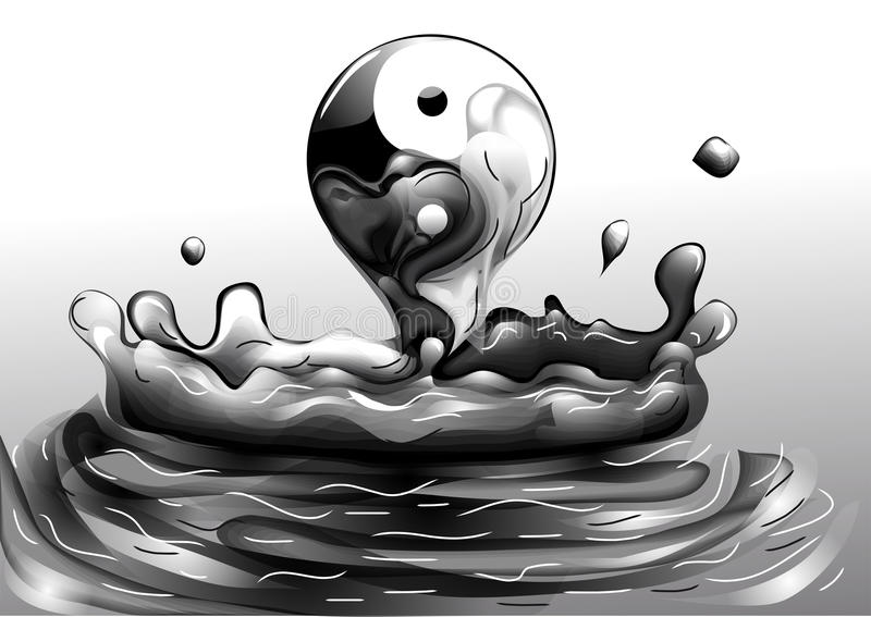 Yin e yang illustrazione di stock