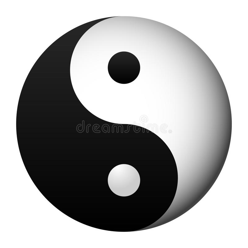 Yin e yang ilustração royalty free