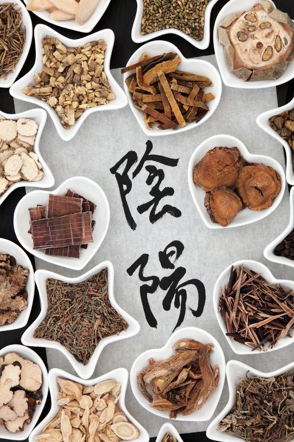 Yin e Yang Herbs fotos de stock