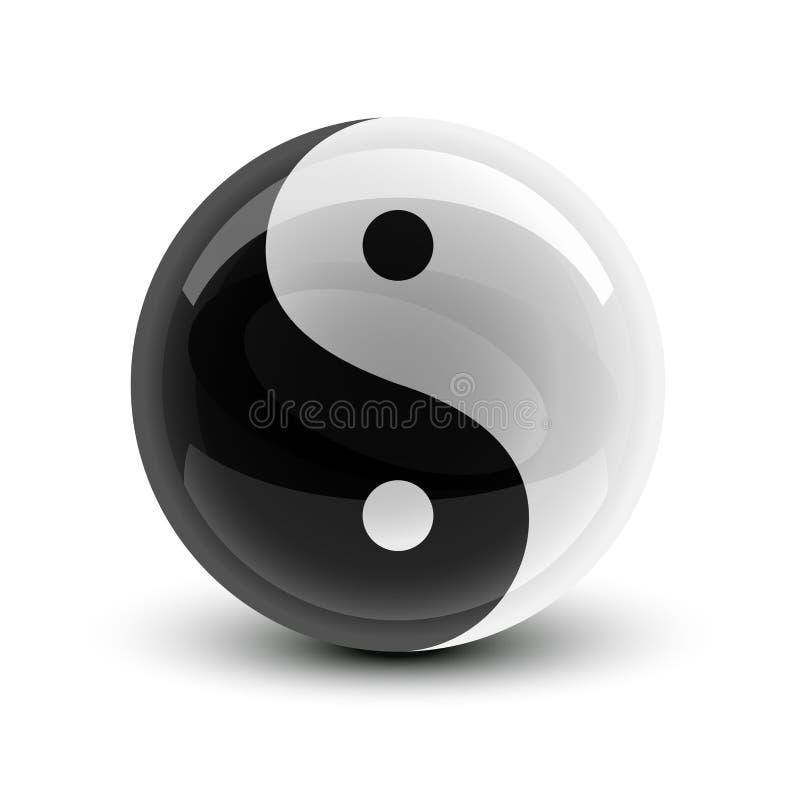 Yin en bal Yang vector illustratie