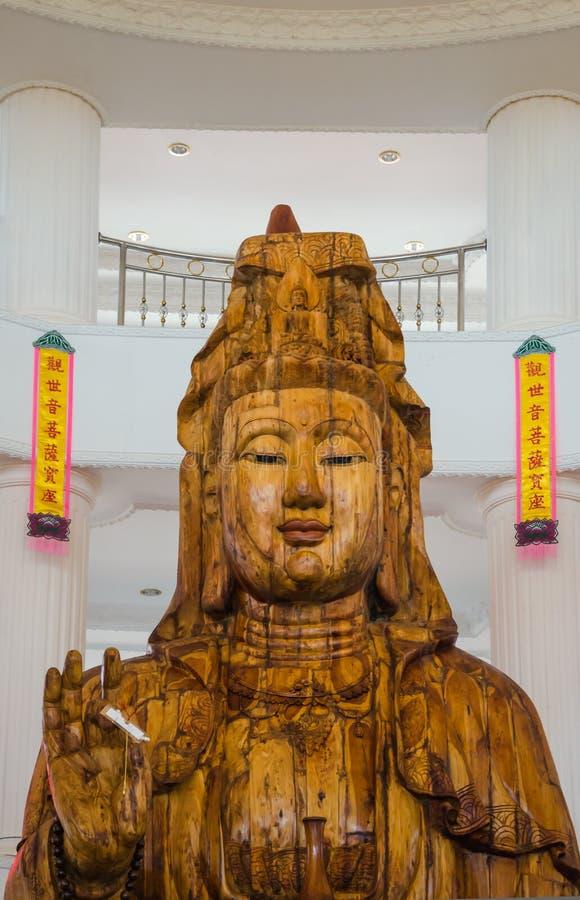 Yin en bois de Guan image stock
