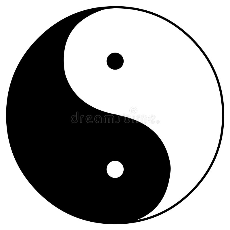Yin en yang vector illustratie