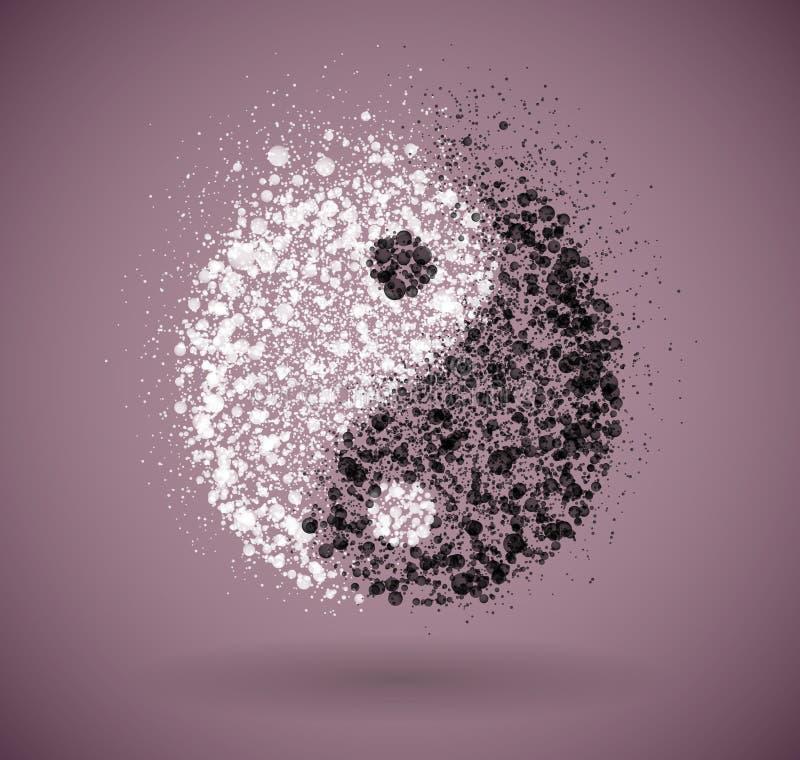 Yin en yang symbool vector illustratie