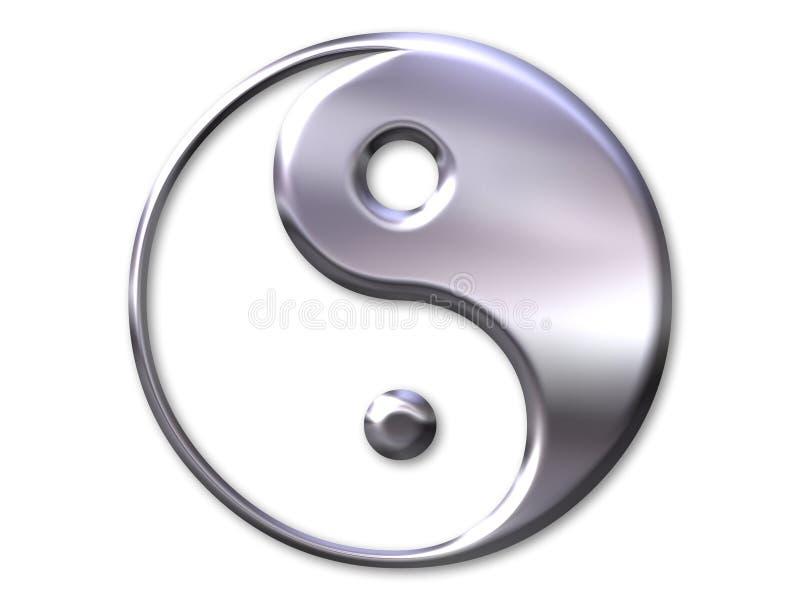 Yin en yang symbool stock illustratie