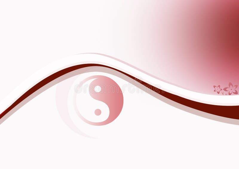 Yin et rouge de Yang illustration de vecteur