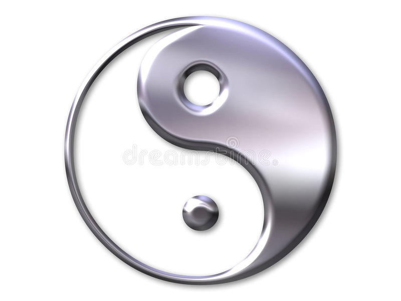 Yin et symbole de yang illustration stock