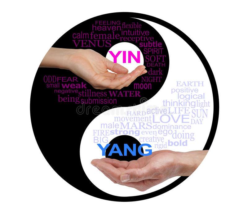 Yin et Yang Together We sont plus forts photographie stock