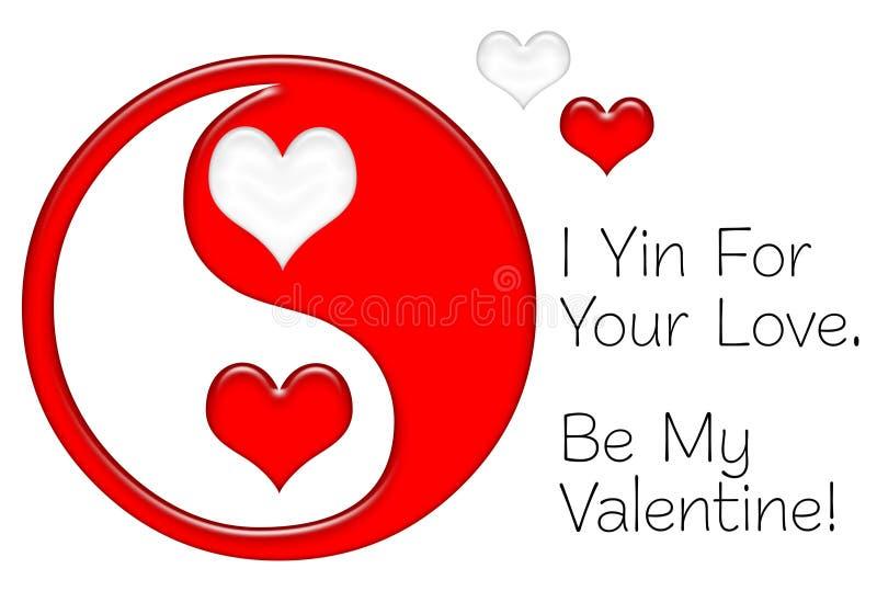 Yin für Ihre Liebe vektor abbildung