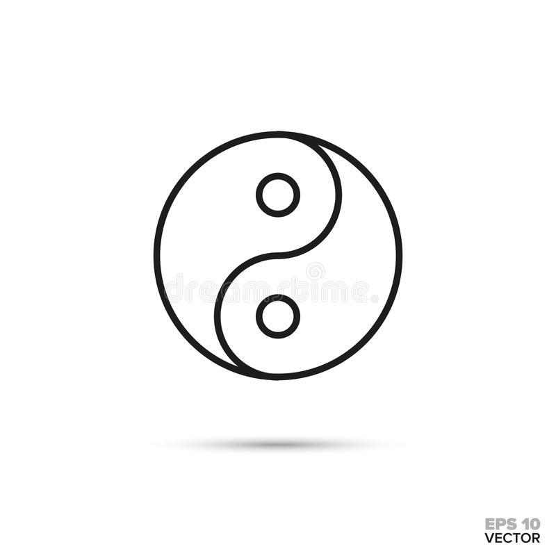 Yin und Yang-Vektorikone lizenzfreie abbildung
