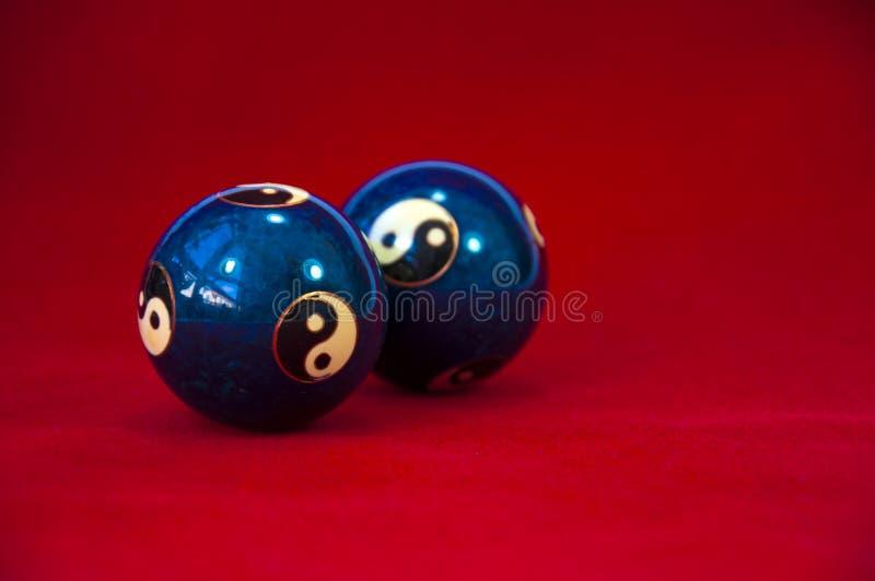 Yin y bolas de Yang Baoding imágenes de archivo libres de regalías