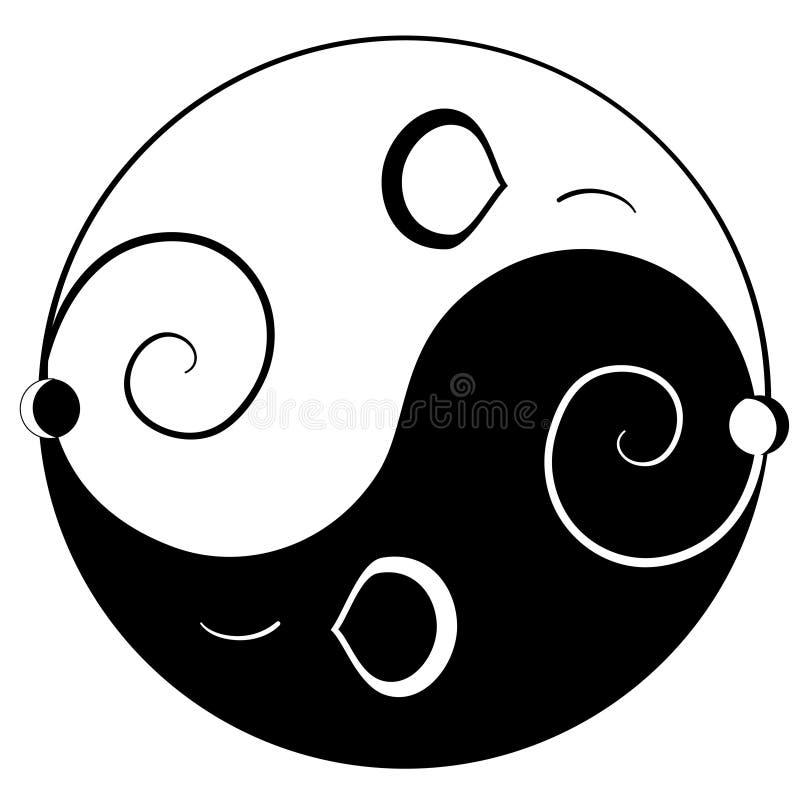 Yin yan del mouse illustrazione vettoriale