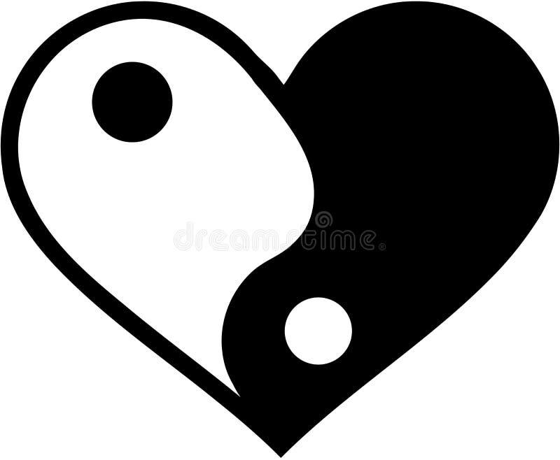Yin yan heart royalty free illustration