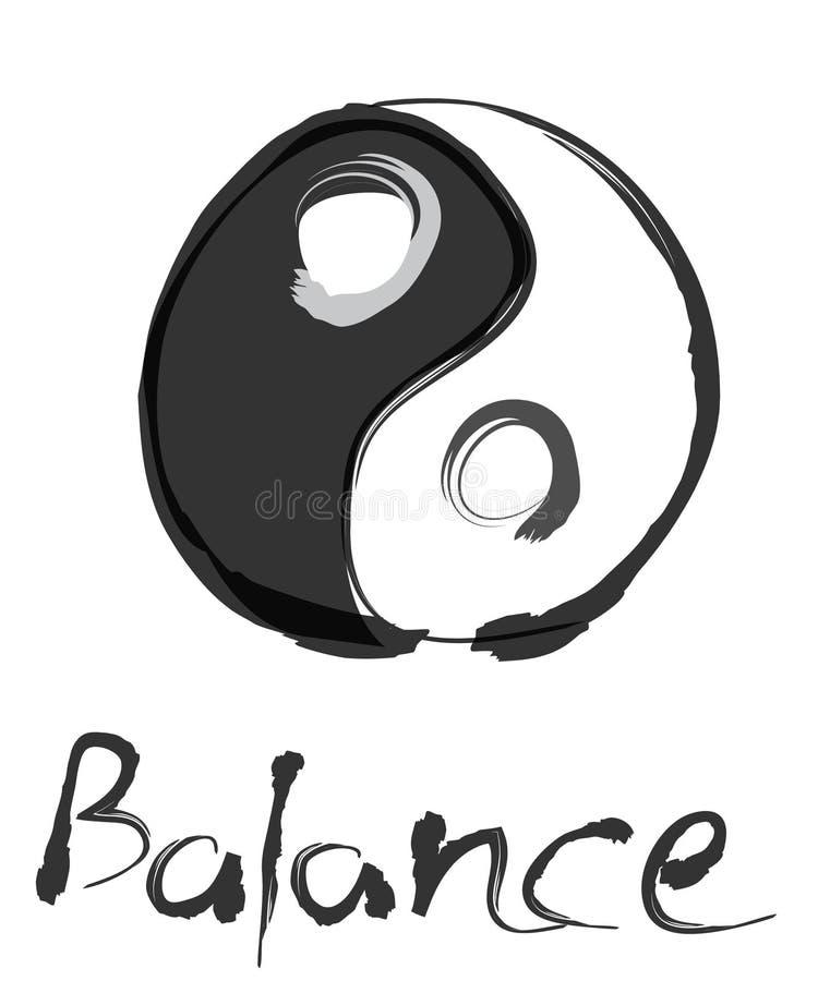 yin yang απεικόνιση ισορροπίας ελεύθερη απεικόνιση δικαιώματος
