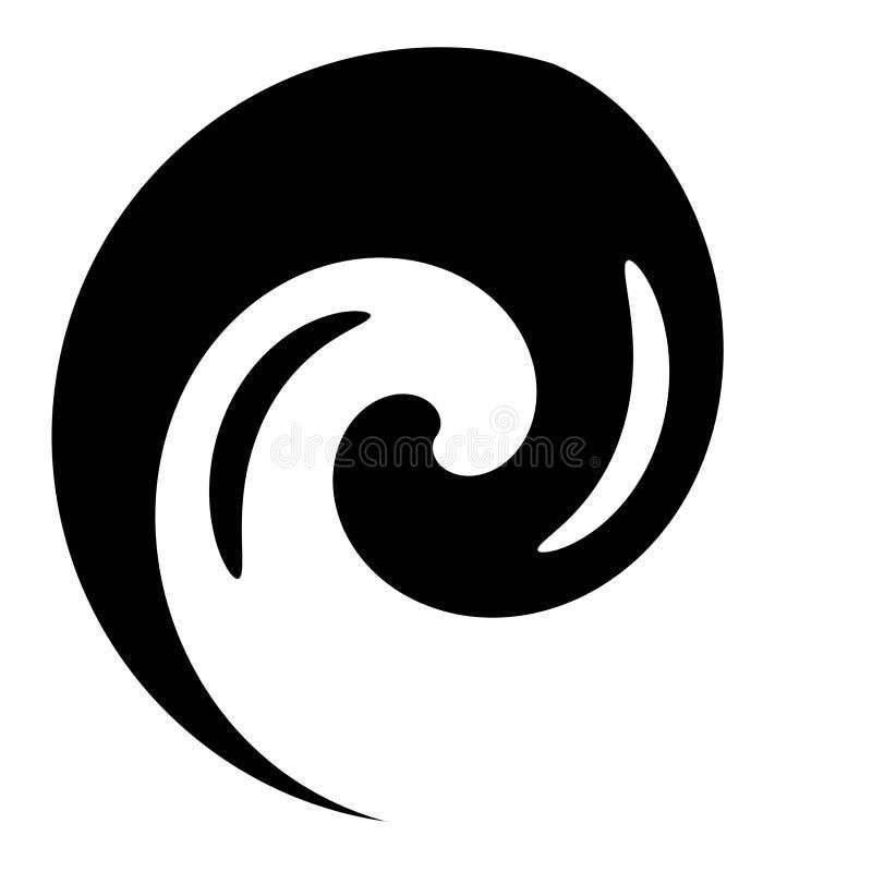 Yin Yang υπερβάλλον απεικόνιση αποθεμάτων