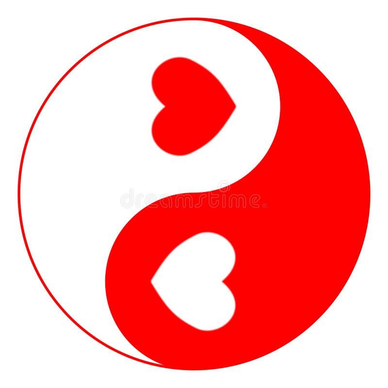 yin yang влюбленности иллюстрация штока