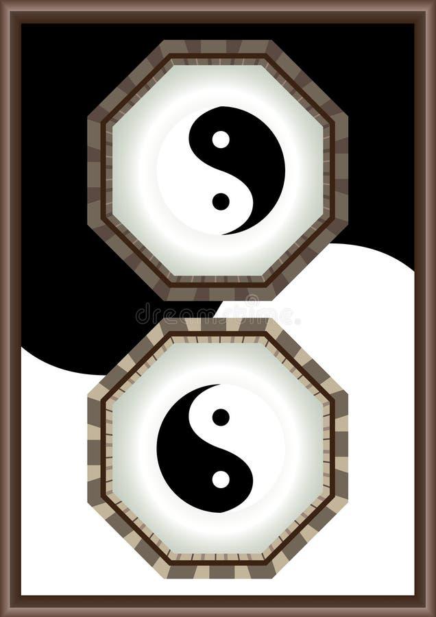 yin yang рамки eps иллюстрация штока