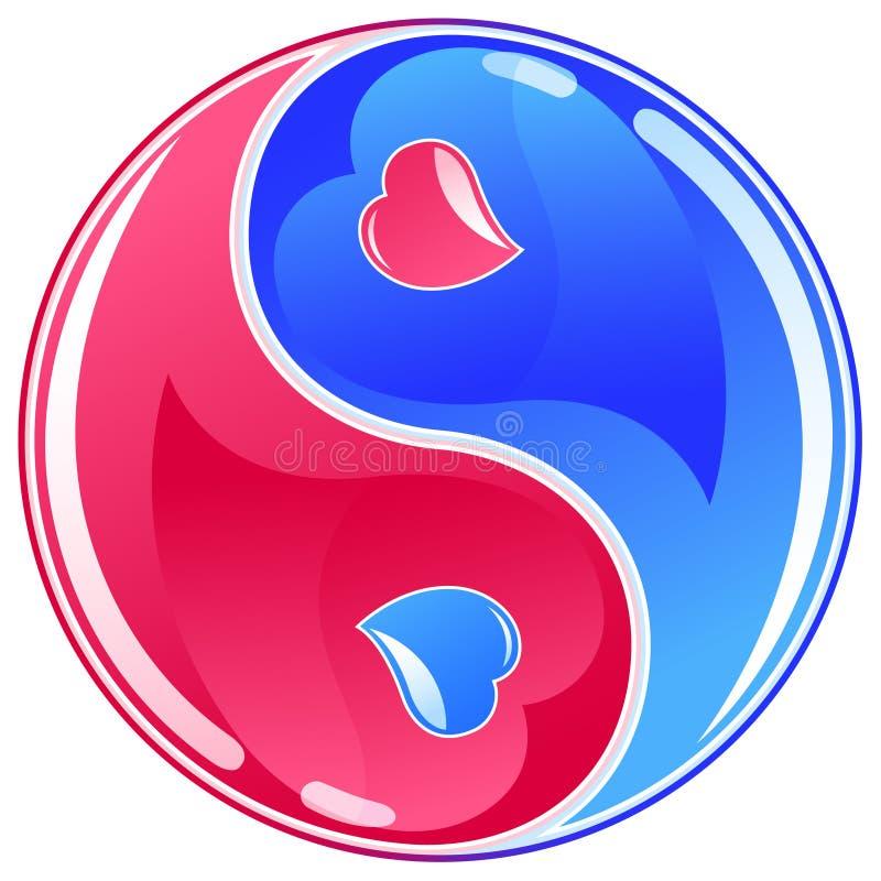 yin yang символа иллюстрация вектора