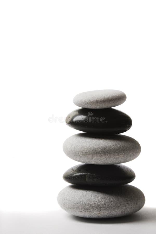 yin yang стога камушка стоковая фотография