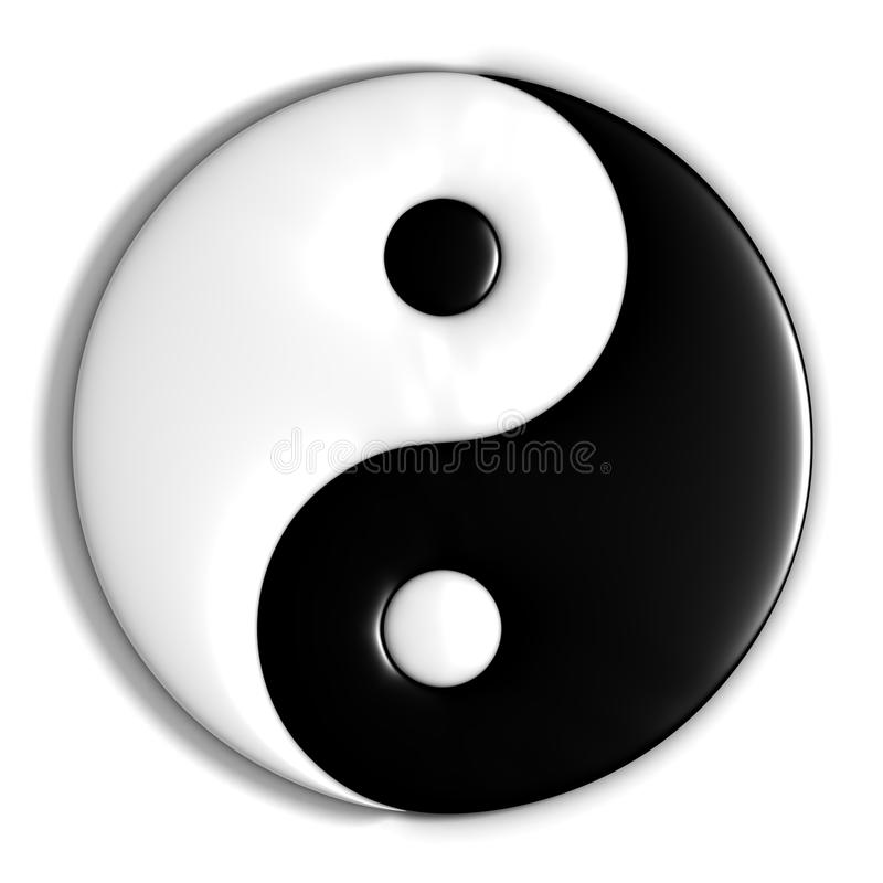 Yin yang stock illustration