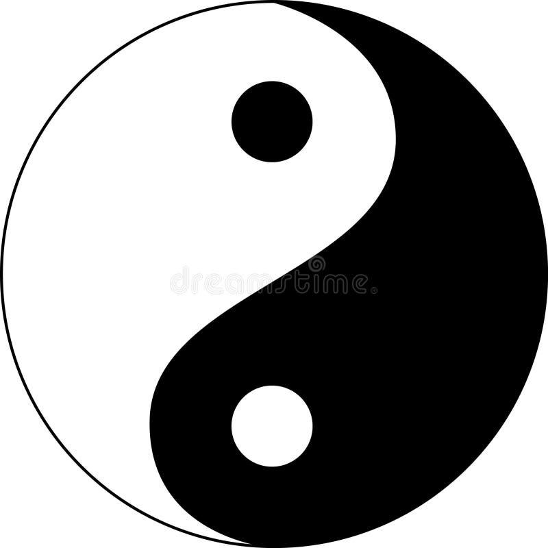 Yin yang ilustración del vector