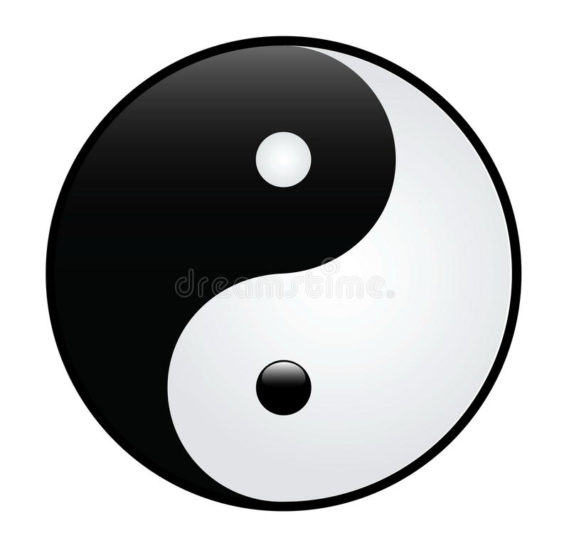 Yin Yang illustration de vecteur
