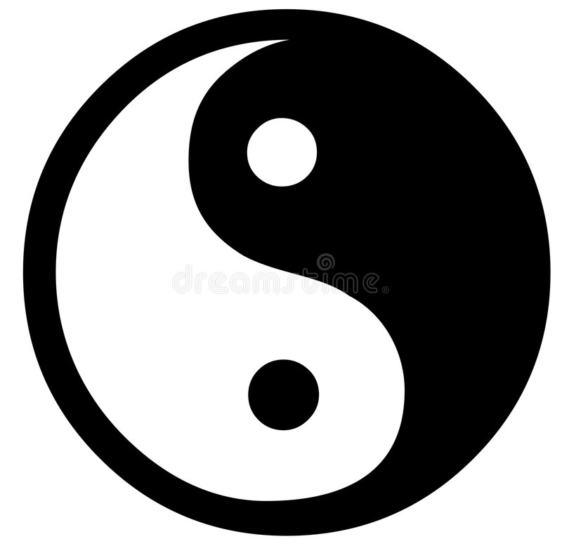 Yin Yang vector illustration