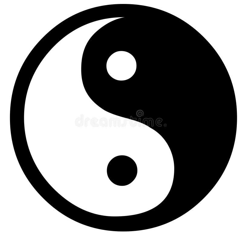 Yin Yang ilustração do vetor
