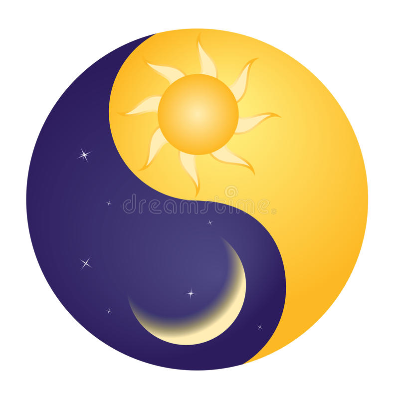 Yin yang stock illustrationer
