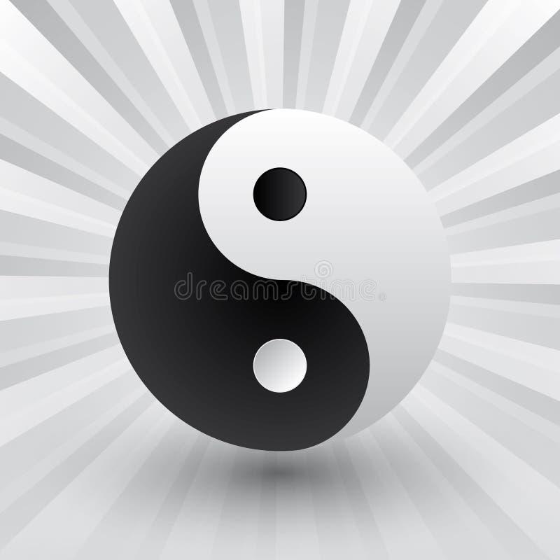 Yin yang иллюстрация штока