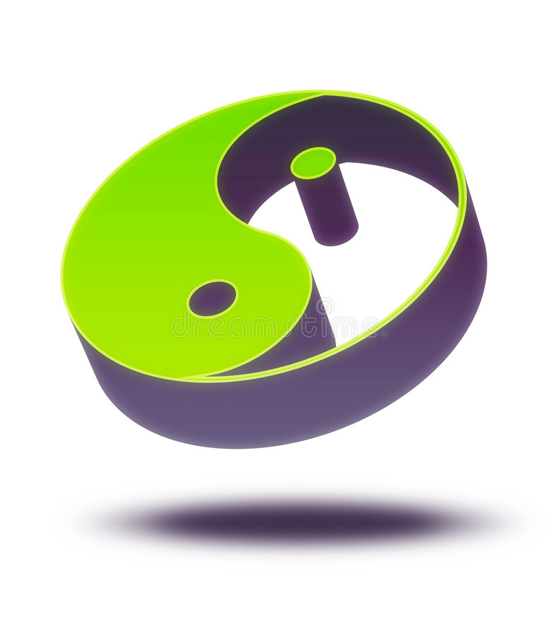 Yin Yang 3d illustration de vecteur