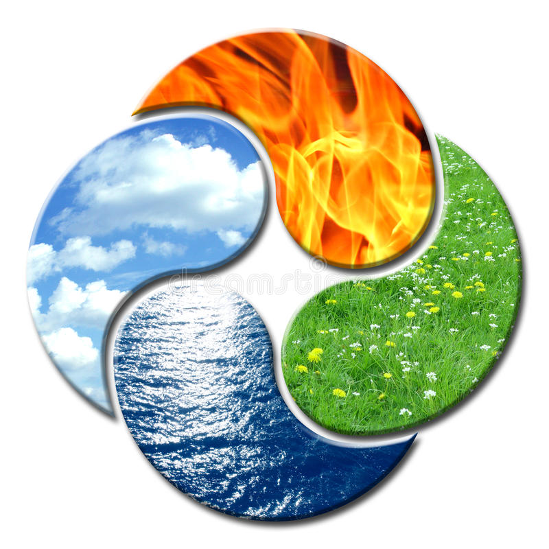 Free Yin Yang 4 Elements Floral Stock Photography - 50526062