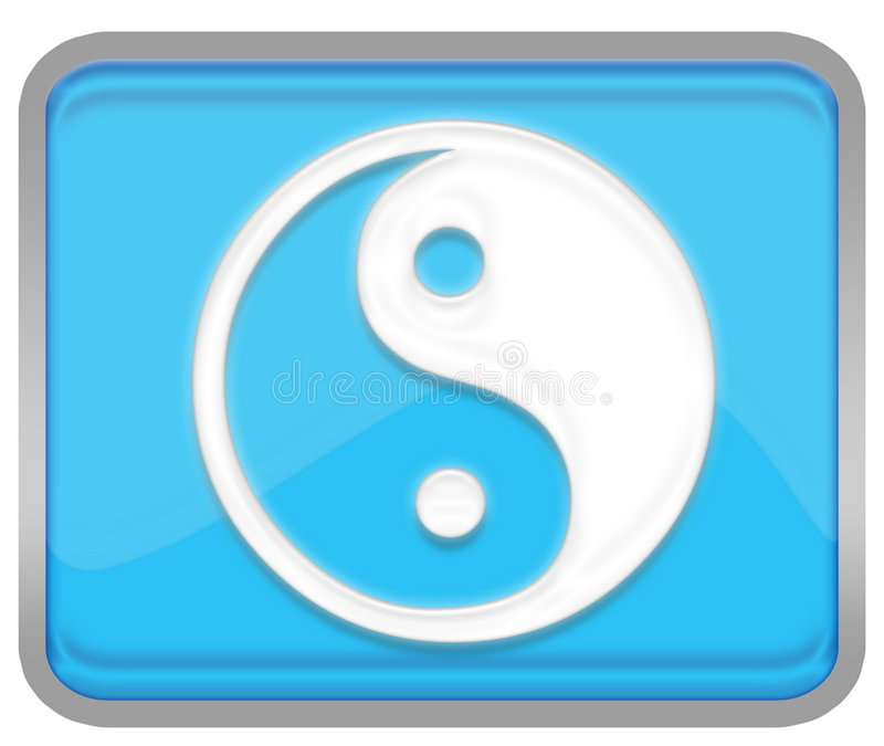 Yin yang. Symbol for web or illustration page royalty free illustration