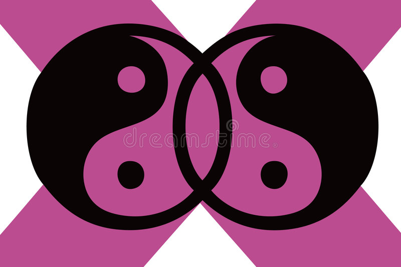 Download Yin yang stock vector. Image of white, pink, balance, illustration - 5529207