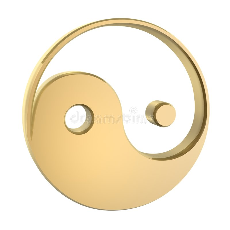 Yin Yang ilustração stock