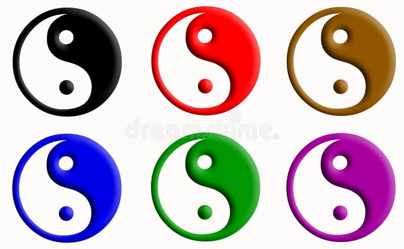 Yin Yang. Symbol royalty free illustration