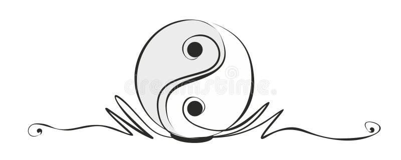 Yin and yang. Abstract yin and yang sign as decorative element royalty free illustration