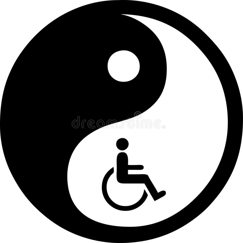 Yin Yang aisló en blanco libre illustration