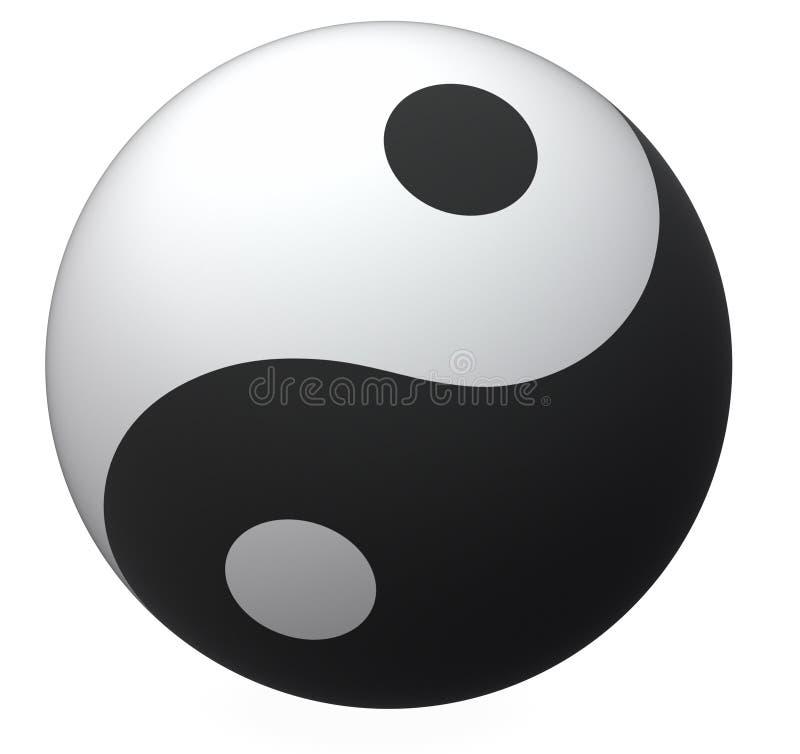 Yin-Yang ball. Balance symbol royalty free illustration