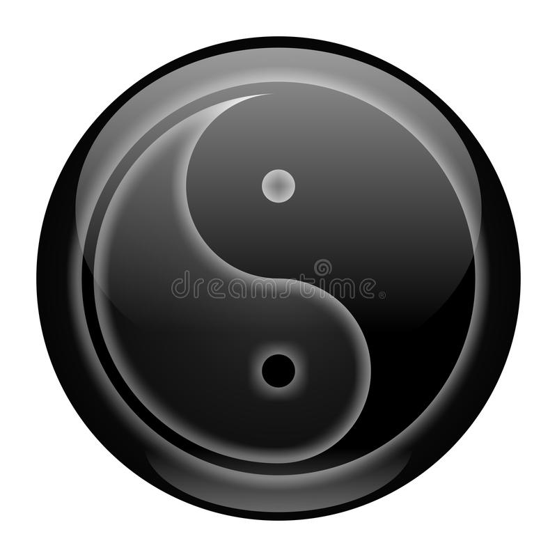 Download Yin-Yang Black Style Icon stock illustration. Image of china - 12698103
