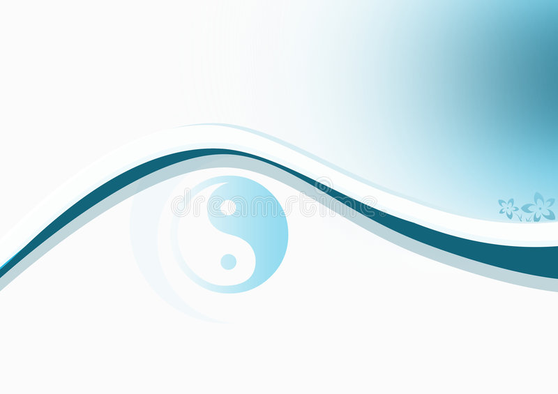 Yin & Yang Blue vector illustration