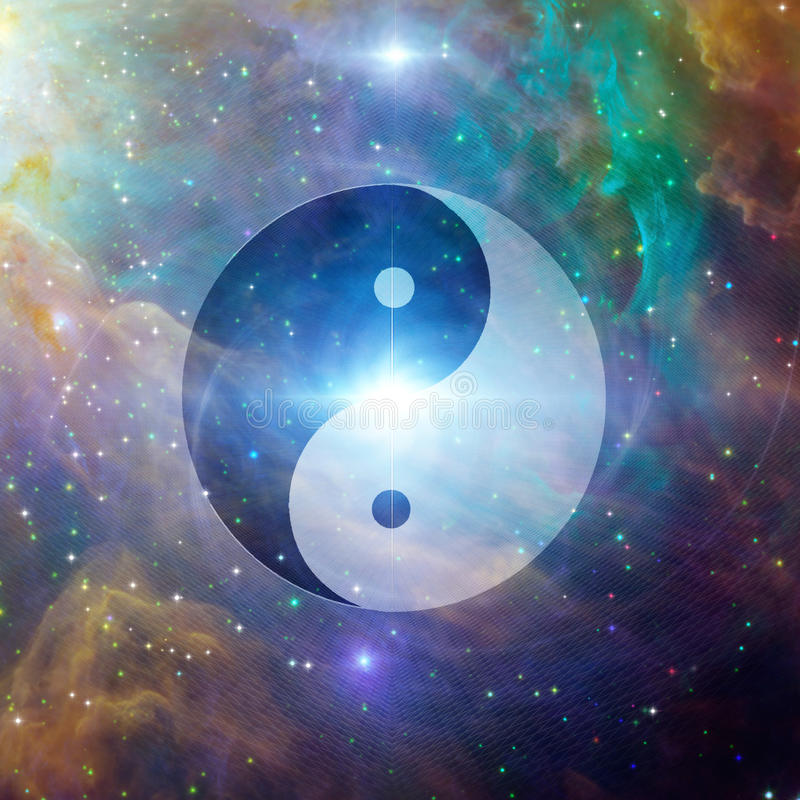 Yin Yang Celestial ilustração royalty free