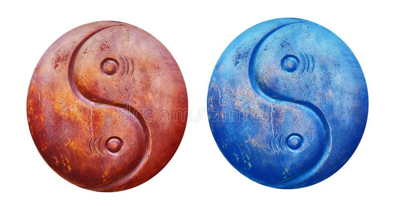 Yin and yang in Chinese philosophy. In Chinese philosophy, yin yang `dark-bright`, `negative-positive` describe how seemingly opposite or contrary forces may royalty free stock photography